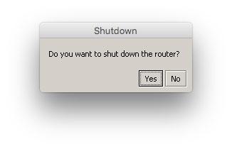 Mikrotik shutdown