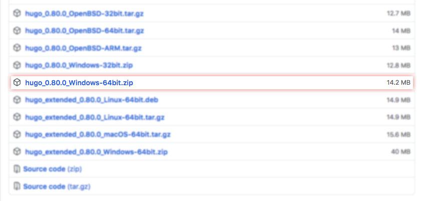 Pilihan download Hugo untuk Windows 64 bit